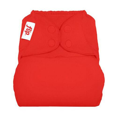 bright red nappy cover by Flip