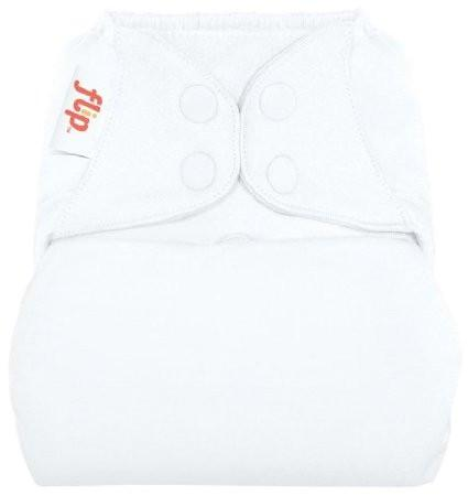 white nappy cover with poppers by flip