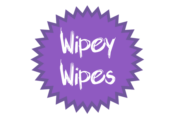Wipey Wipes Kit - reusable wipes kit for mucky faces, hand and bottoms