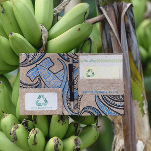 Hammerhead Blue Travel Wallet against Banana Tree Bunch by Green Banana Paper