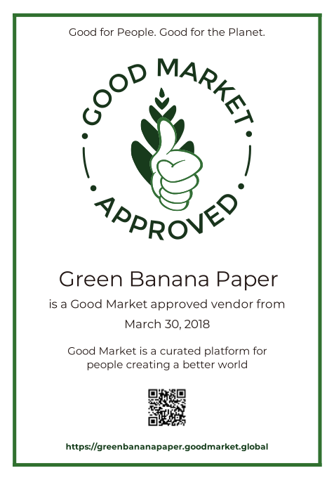 Green Banana Paper Good Market Approved