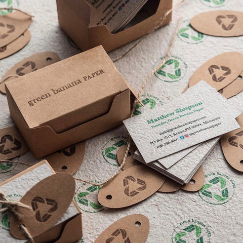 Green Banana Paper business cards