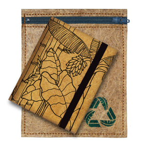 Flora Black Travel Wallet with Eco-friendly Banana Fiber Sewn Packaging by Green Banana Paper
