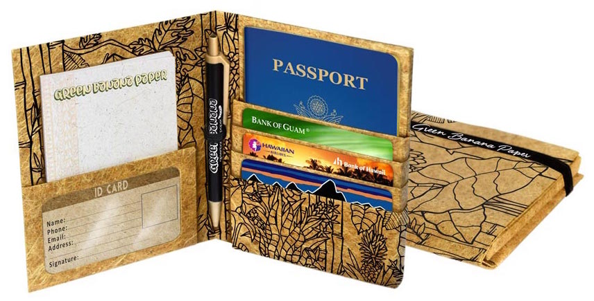 Green Banana Paper Travel Wallet