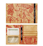 Green Banana Paper Travel Wallet Flora Series in Red