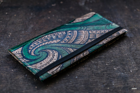 women's wallet tribal green