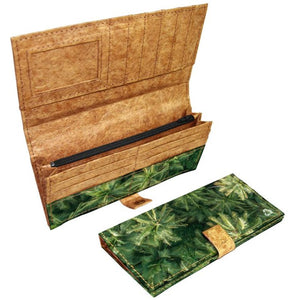 Accordion Clutch Wallets - Green Banana Paper