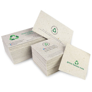 Custom Business Cards - Green Banana Paper