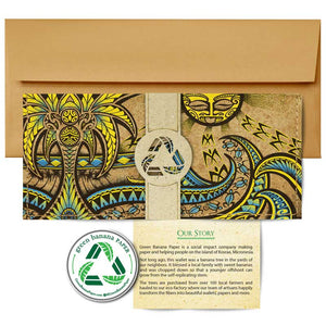 Clutch Wallets - Green Banana Paper