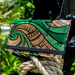 Vegan Clutch Wallet - 2018 (Sewn) - Green Banana Paper