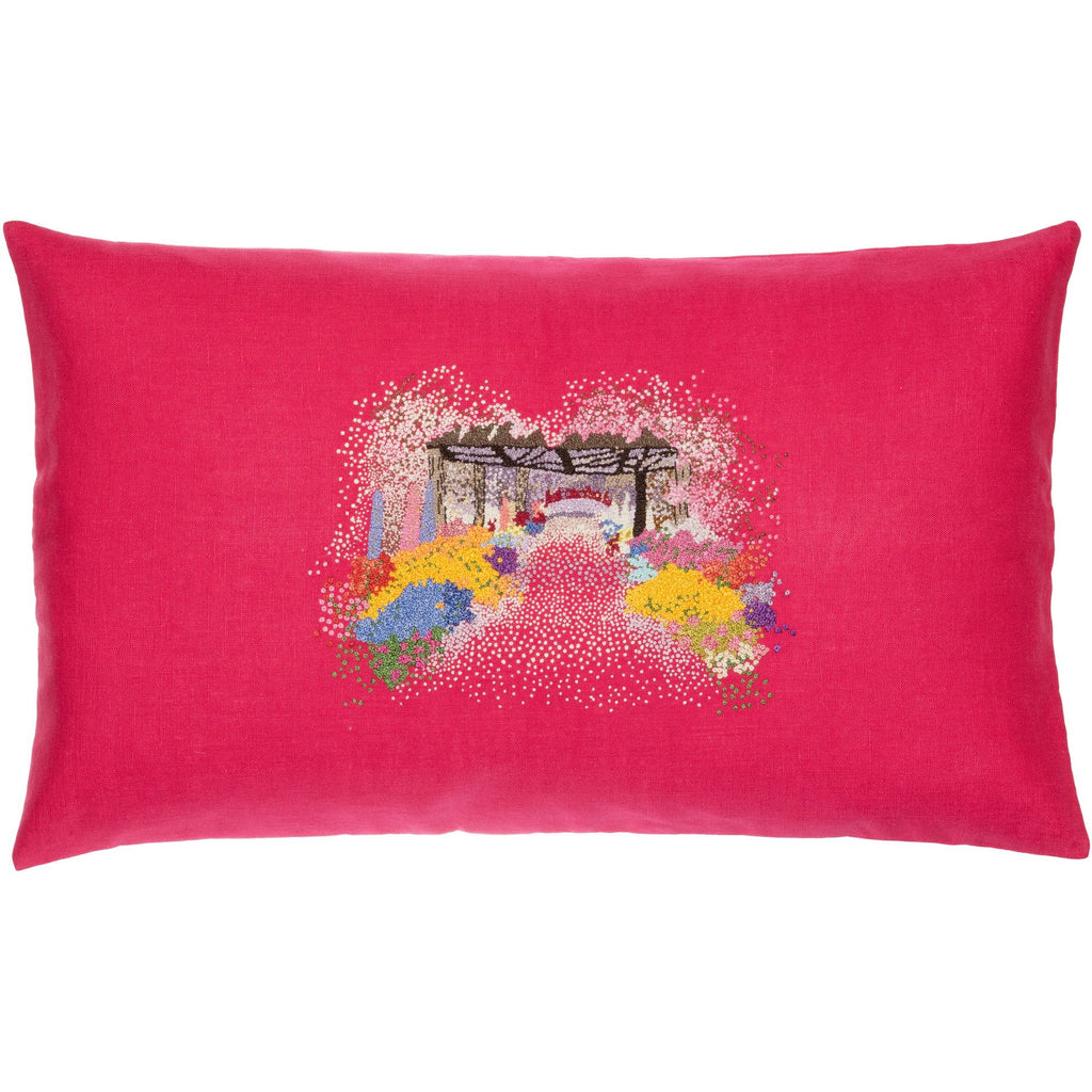 Blossom 3D Embroidery Pillow 12X20""