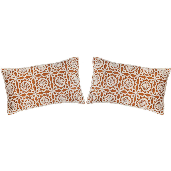 Set of 2: Crochet Pillow 12X20""