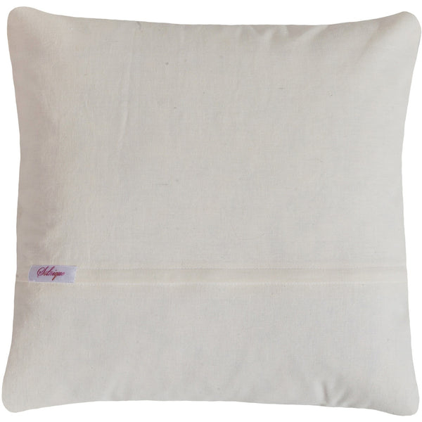 Beads embroidered pillow Lavender 18x18""