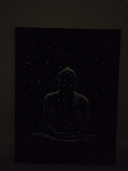 Buddha Glowing in the dark embroidered picture 12X16""