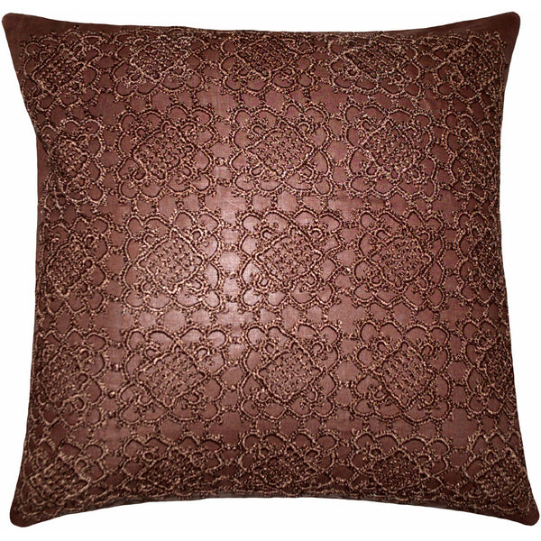 "Crochet Chocolate Pillows 18X18"" Set of 2"