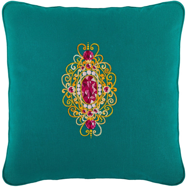 Gems&Gold bright Embroidery Pillow 18X18""
