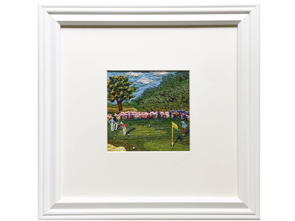 Golf embroidered picture