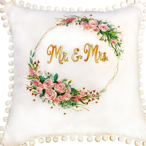 Bridal embroidered Pillow