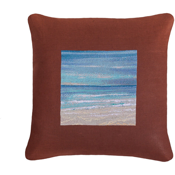 Seaside relax 3D Needlepoint Pillow 18X18""