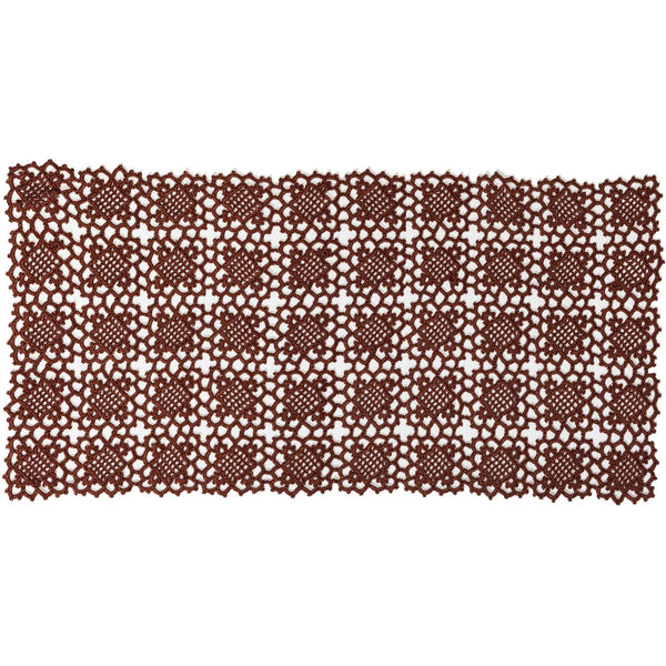 Crochet table runner chocolate 16 1/2 x32""