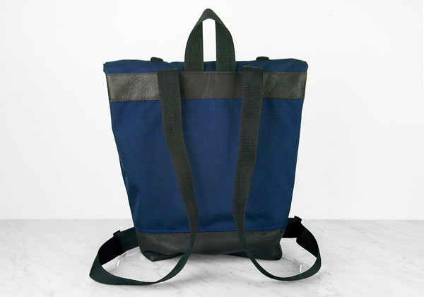 Blue Roll Top Backpack