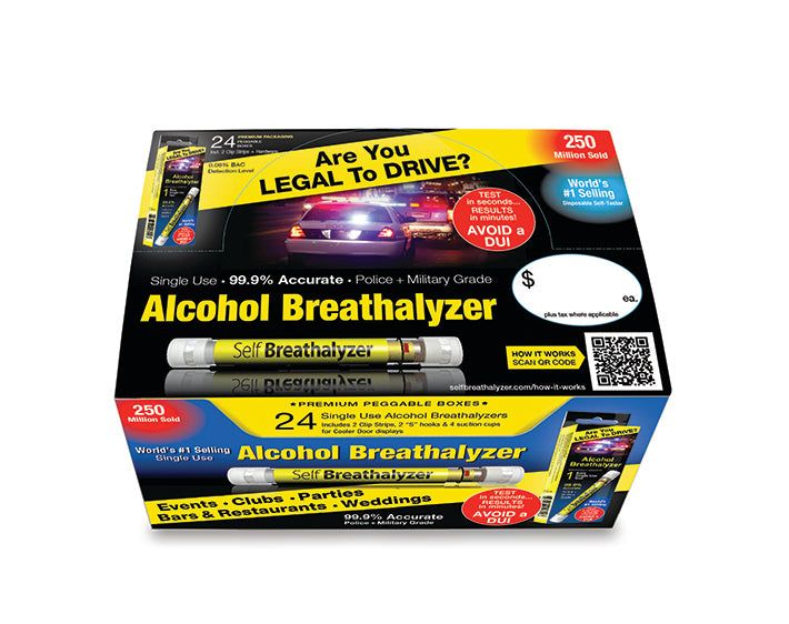 4x24 Self Breathalyzer™ .08 BAC-Prem POS Case