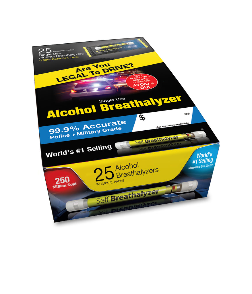 25 Breathalyzer Party Pack