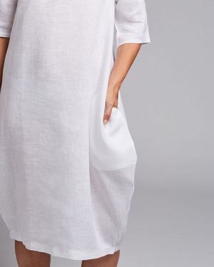 linen relaxed fit dress