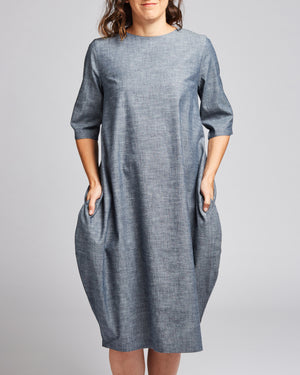 cotton denim relaxed fit dress