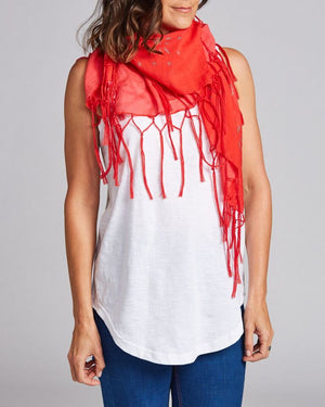 cotton fringed scarf