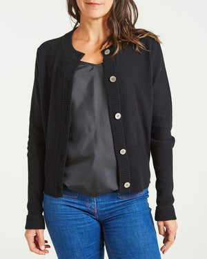 cashmere fitted cardigan