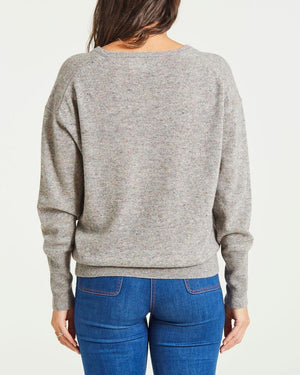 cashmere relaxed v-neck jumper