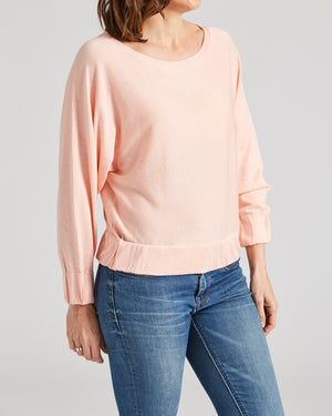 silk cotton batwing jumper