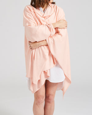 silk cotton oversized wrap