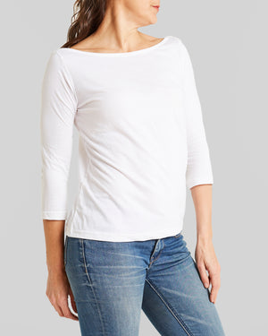 cotton jersey boatneck tee
