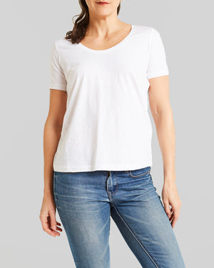 cotton jersey classic cut short sleeve tee