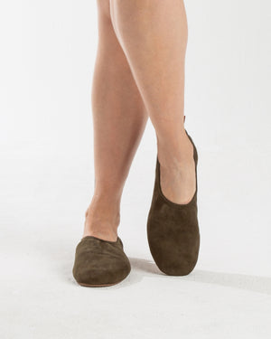 leather high line ballet slipper