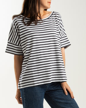 cotton jersey boxy short sleeve tee