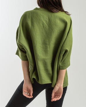 linen freestyle batwing blouse