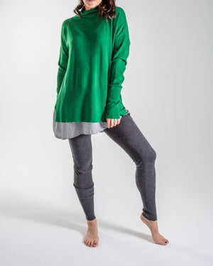 luxe cotton knit - longline leggings