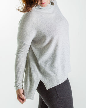 cashmere classic boxy turtleneck jumper