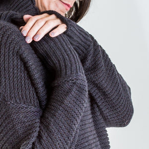 australian merino relaxed turtleneck