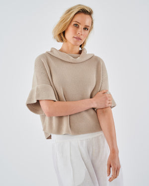 Marrakech Cotton Knit Cowl Neck