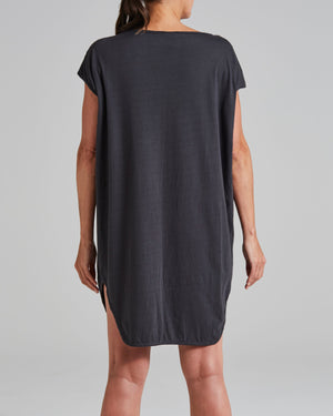 cotton jersey relaxed fit shift dress