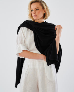 Ibiza Cotton Knit Oversized Wrap