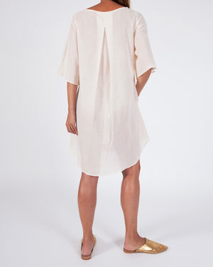 woven cotton a line shift dress