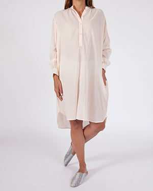 woven cotton oversized shirt dress