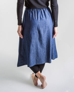 denim classic a-line skirt