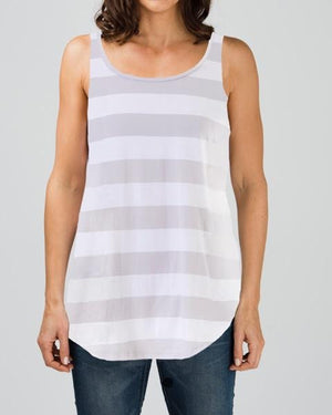 cotton jersey scoop hemmed tank top