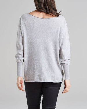 100% cotton relaxed fit boatneck jumper